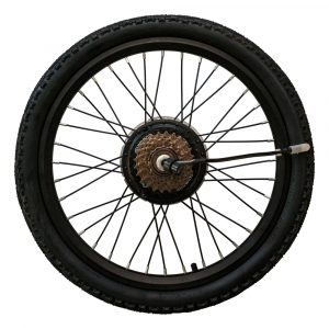 Rear wheel with 350W motor, pre-assembled, MATE S